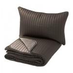 КАРИТ Покрывало и чехол на подушку - коричневый, 180x280/40x60 см