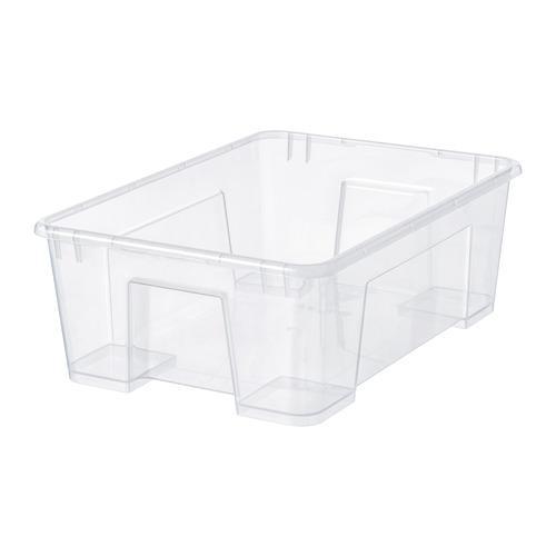 САМЛА Контейнер - прозрачный, 39x28x14 см/11 л