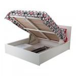 МАЛЬМ Кровать с подъемным механизмом - белый, 140x200 см