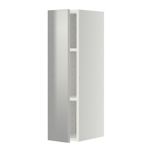 МЕТОД Шкаф навесной с полкой - 20x80 см, Гревста нержавеющ сталь, белый