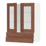 МЕТОД / ФОРВАРА Навесной шкаф/2 стек дв/2 ящика - 60x80 см, Филипстад коричневый, белый
