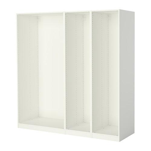 ПАКС 3 каркаса гардеробов - белый, 200x58x201 см