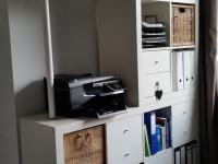 The combination of the storage racks Kallax