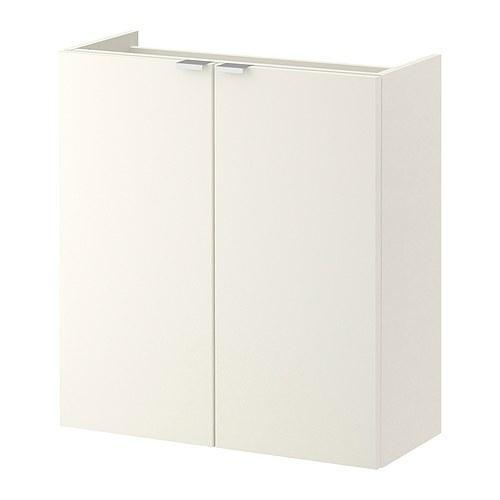 ЛИЛЛОНГЕН Шкаф под раковину с 2 дврц - белый, 60x25x64 см