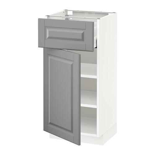 МЕТОД / МАКСИМЕРА Напольный шкаф с ящиком/дверью - 40x37 см, Будбин серый, белый