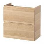 ГОДМОРГОН Шкаф для раковины с 2 ящ - под беленый дуб, 60x32x58 см