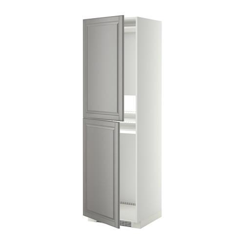 МЕТОД Высок шкаф д холодильн/мороз - 60x60x200 см, Будбин серый, белый