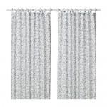 HÄSSLEKLOCKA curtains, 1 pair