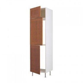 Height FAKTUM cabinet for cold / freezer with 3 doors - Edel classic brown, 60x233 / 35 see