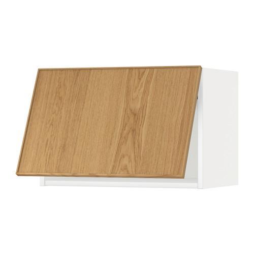 МЕТОД Горизонтальный навесной шкаф - 60x40 см, Экестад дуб, белый