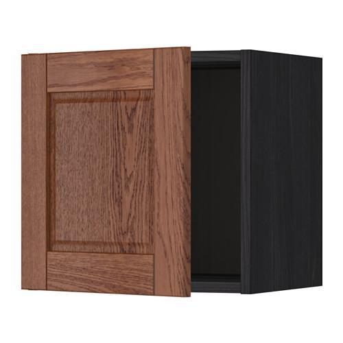 МЕТОД Шкаф навесной - 40x40 см, Филипстад коричневый, под дерево черный