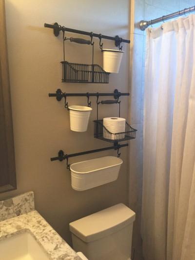 Еще одна идея использования серии ФИНТОРП для организации хранения в ванной комнате