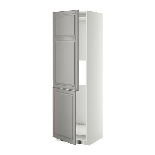 МЕТОД Выс шкаф д/холодильн или морозильн - 60x60x200 см, Будбин серый, белый