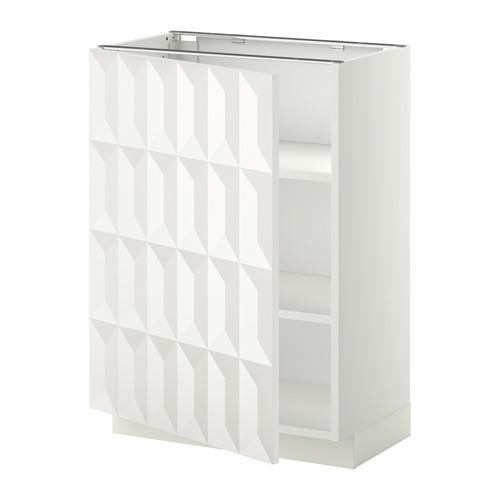 МЕТОД Напольный шкаф с полками - 60x37 см, Гэррестад белый, белый