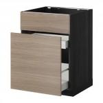 MÉTODO / sem MAKSIMERA Nap n / lavabo / grado mus / 1dvrts / 2yasch - Brokhult nogal claro efecto de color gris, madera negro