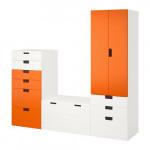 СТУВА Комбинация д/хранения - белый/оранжевый