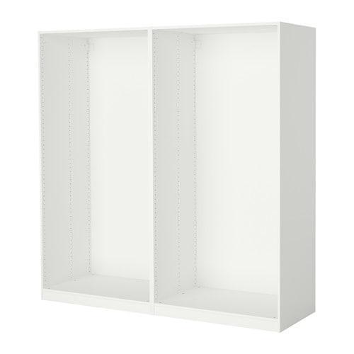 ПАКС 2 каркаса гардеробов - белый, 200x58x201 см