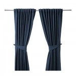 BLEKVIVA Curtains with grip, 1 couple