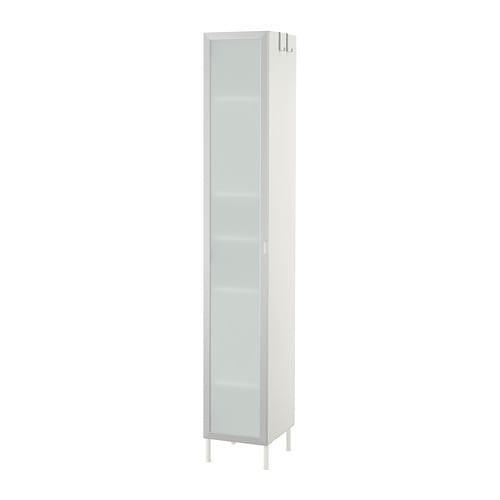 LILLONGEN Armario alto 1-puerta - aluminio, 30x38x190 cm