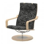Poeng swivel chair - Eslёv Black / White