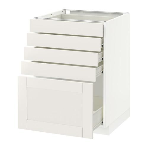 methode forvara bodenschrank mit 5 schubladen wei savedal wei 60x60 cm. Black Bedroom Furniture Sets. Home Design Ideas