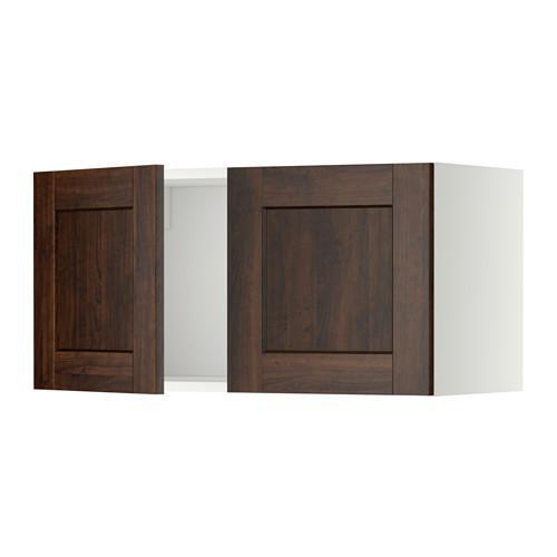 МЕТОД Навесной шкаф с 2 дверями - Эдсерум под дерево коричневый, белый