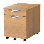 GALANT Cabinet with compartment for folders - oak veneer