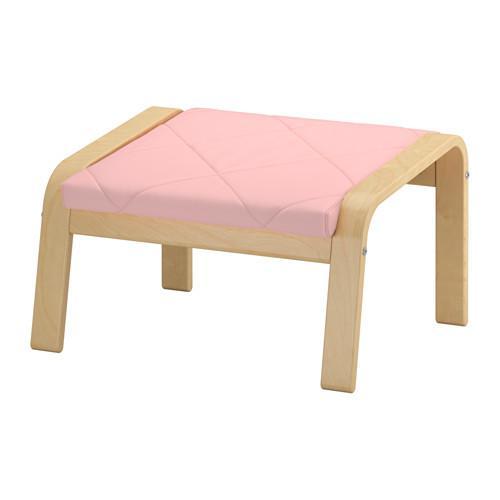 ПОЭНГ Табурет для ног - Эдум розовый, березовый шпон