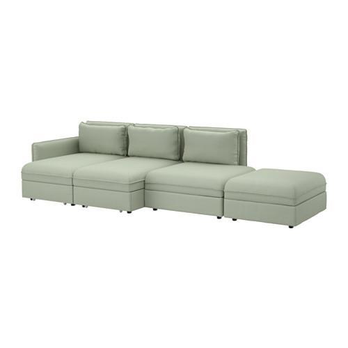 ВАЛЛЕНТУНА 4-местный диван-кровать - Хилларед зеленый
