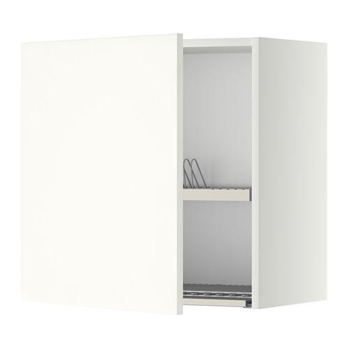МЕТОД Шкаф навесной с сушкой - 60x60 см, Хэггеби белый, белый