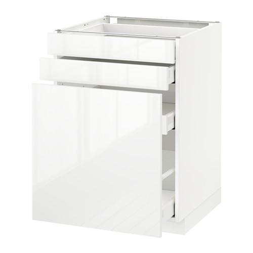 МЕТОД / МАКСИМЕРА Нплн шк с вдв мдл/2 фрнт - 60x60 см, Рингульт глянцевый белый, белый