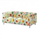 КЛИППАН Чехол дивана 2-местного - Глоттра разноцветный, Глоттра разноцветный