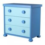 МАММУТ Комод с 3 ящиками - голубой/синий