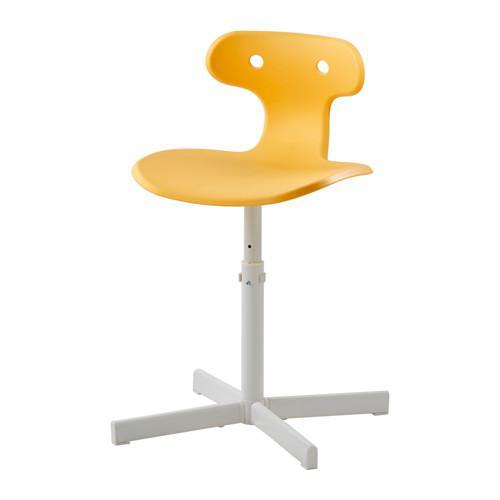 МОЛЬТЕ Стул д/письменного стола - желтый