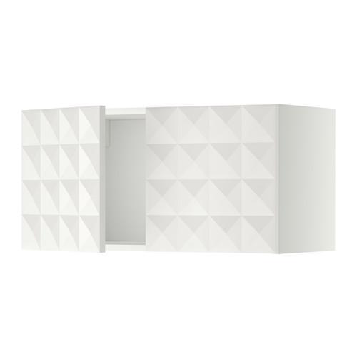 МЕТОД Навесной шкаф с 2 дверями - Гэррестад белый, белый