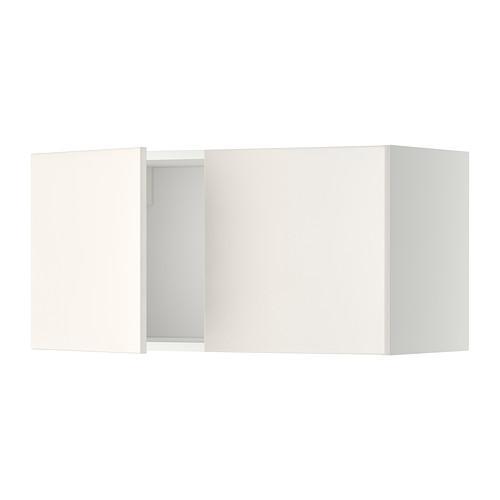 МЕТОД Навесной шкаф с 2 дверями - Веддинге белый, белый