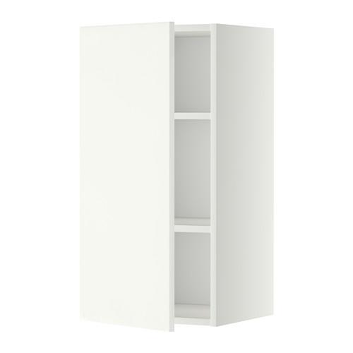 МЕТОД Шкаф навесной с полкой - 40x80 см, Хэггеби белый, белый