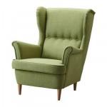 СТРАНДМОН Кресло с подголовником - Шифтебу зеленый