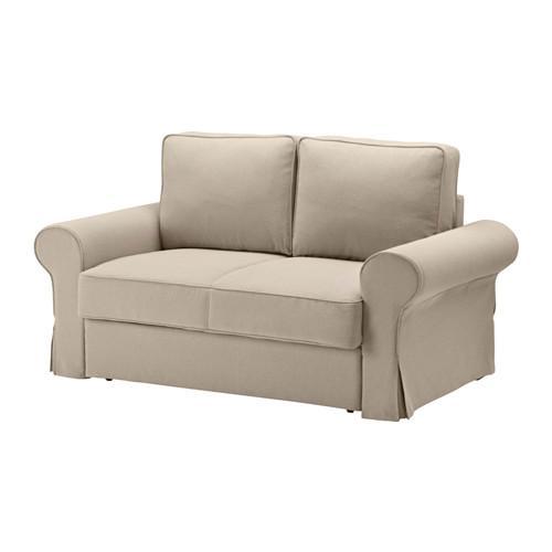БАККАБРУ Чехол на 2-местный диван-кровать - -, Хильте бежевый