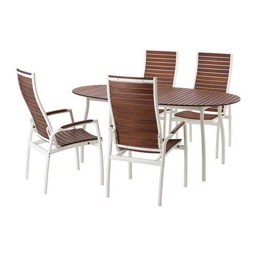 ВИНДАЛЬШЁ Стол+4 кресла, д/сада