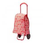 Shopping bag KNELLA su ruote - rosso / bianco