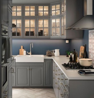 Кухонные фасады МЕТОД в интерьере загородного дома
