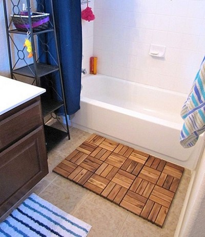 Bath mat flooring from IKEA Platt