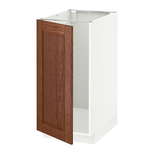 МЕТОД Наполный шкаф д/мойки/мусорн конт - Филипстад коричневый, белый
