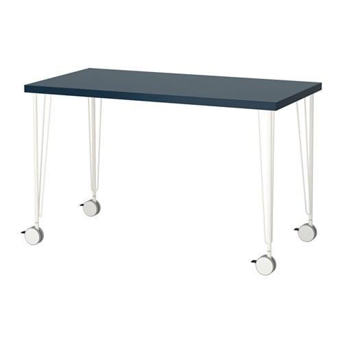 GLASHOLM ALEX Asztal üveg, méhsejt mintás fehér IKEA