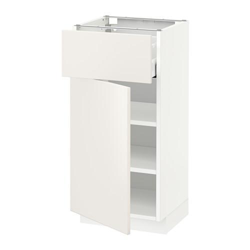 МЕТОД / МАКСИМЕРА Напольный шкаф с ящиком/дверью - 40x37 см, Веддинге белый, белый
