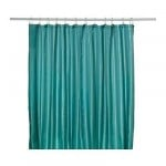SALTGRUND curtains for the bathroom - green and blue
