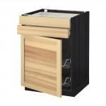 MÉTHODE / plancher FORVARA armoire / porte / 2yasch / prvl krzn - bois noir, Torhemn frêne naturel, 60x60 cm