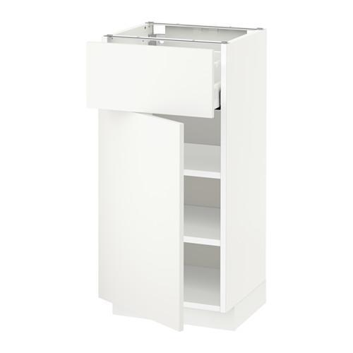 МЕТОД / МАКСИМЕРА Напольный шкаф с ящиком/дверью - 40x37 см, Хэггеби белый, белый