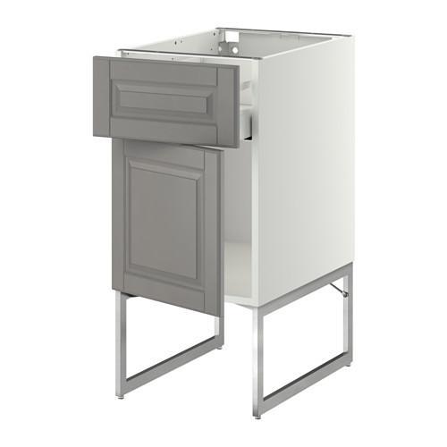 МЕТОД / МАКСИМЕРА Напольный шкаф с ящиком/дверью - 40x60x60 см, Будбин серый, белый